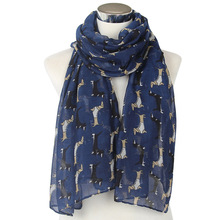 Hot selling women animal printed voile scarf promotional scarves