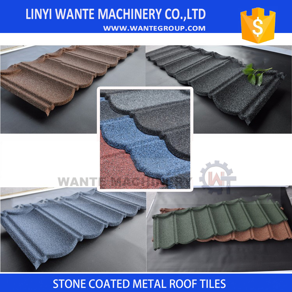 classical colored stone coated roof tile/stone coated metal roof tile