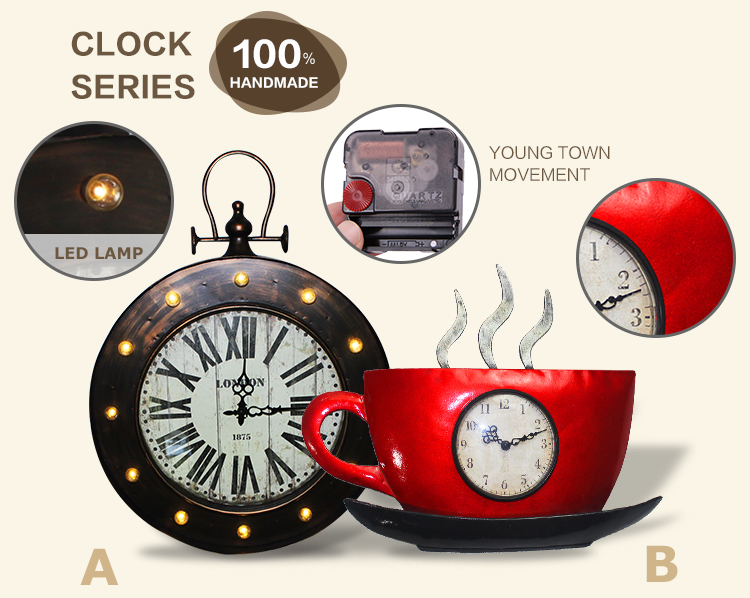 Highest Level Newest Design Retro Artwork Wall Clock