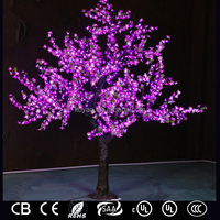 2.5m Led Christmas Cherry Tree Light for outdoor decoration FZ-1536 purple