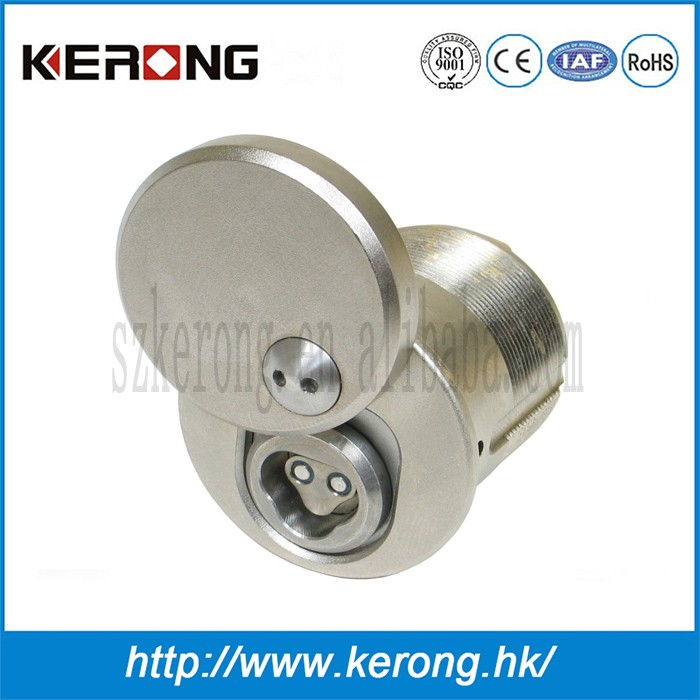 Security double door lock for furniture door