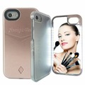 for iPhone Case With LED Lights Mirror Perfect Makeup Selfies Thin Attractive and Protective Case for iPhone 6 7 8 Plus X