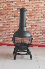 wood burning outdoor chimenea/ steel chiminea