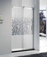 Tempered glass sliding door ready made shower room in bathroom