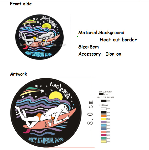 Wholesale High Quality Custom Iron On Woven Embroidered Patch