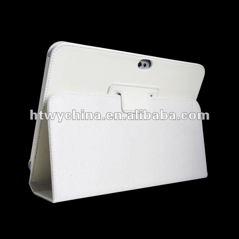 White case For Samsung Galaxy Tab 2 Leather Flip Case Cover Stand P5100 Tab2 10.1