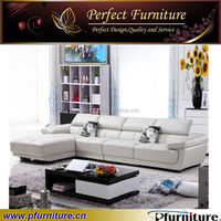 PFS31369 Chinese style white L shape sofa bed