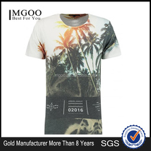 MGOO Wholesale Price Softextile Custom Design Mens White Urban Jungle Print T-Shirt European Style 100 Cotton Boy Tees