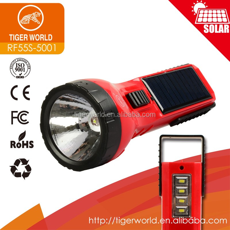 dry battery and solar borad charging solar led torch