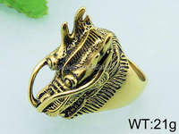 Man latest gold finger ring cool dragon designs stainless steel jewelry