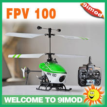 Newest!Walkera Latest FPV 100 Mini Lama Coaxial Rotor Remote Control RC Helicopter with DEVO F4 rc Transmitter RTF( TX5805 )
