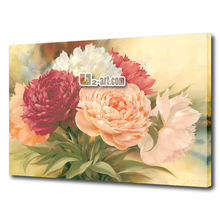 Modern decor art Flower Painting Canvas printed Peony for living room