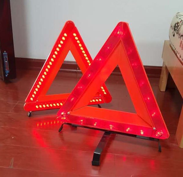 CE E-mark Vehicle Car Emergency Tool flashing LED Warning Triangle