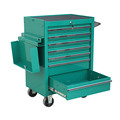 metal rolliing shop cart with drawers