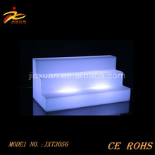 RGB color changing led wine shelf/plastic wine beer shelf display for bar,party ects