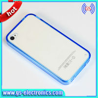 2 in 1 clear back cover case for iPhone 4/4s