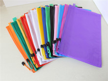 10pcs/lot Waterproof Zip Bag Document Pocket Folder A4 plastic pockets file folder