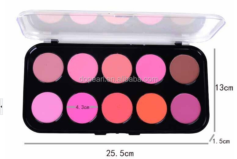2015 New No Logo 10 color cosmetic cheek blusher makeup blush palette