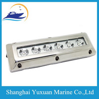 6 x 3W/ 18W Stainless Steel Surface Mount Underwater Boat Marine LED Light