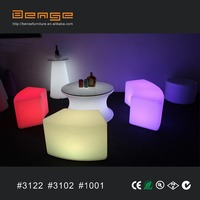outdoor lighting table and chairs / bar chair/ LED bar furniture