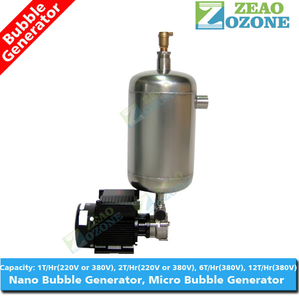 Micro nano bubble generator for aquaculture with stainless steel tank