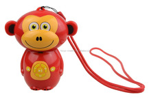Convenient MP3 musical monkey speaker with hang rope