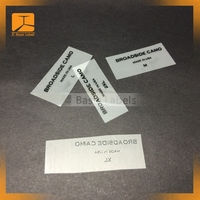 garment lable fashion emboss design bronzing heat press tag logo embroidered photo transfer