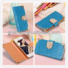 Luxury Hand Bag For iPhone 5S 5 PU Leather Crocodile Flip Cover Case Wallet For Apple Iphone5 Case