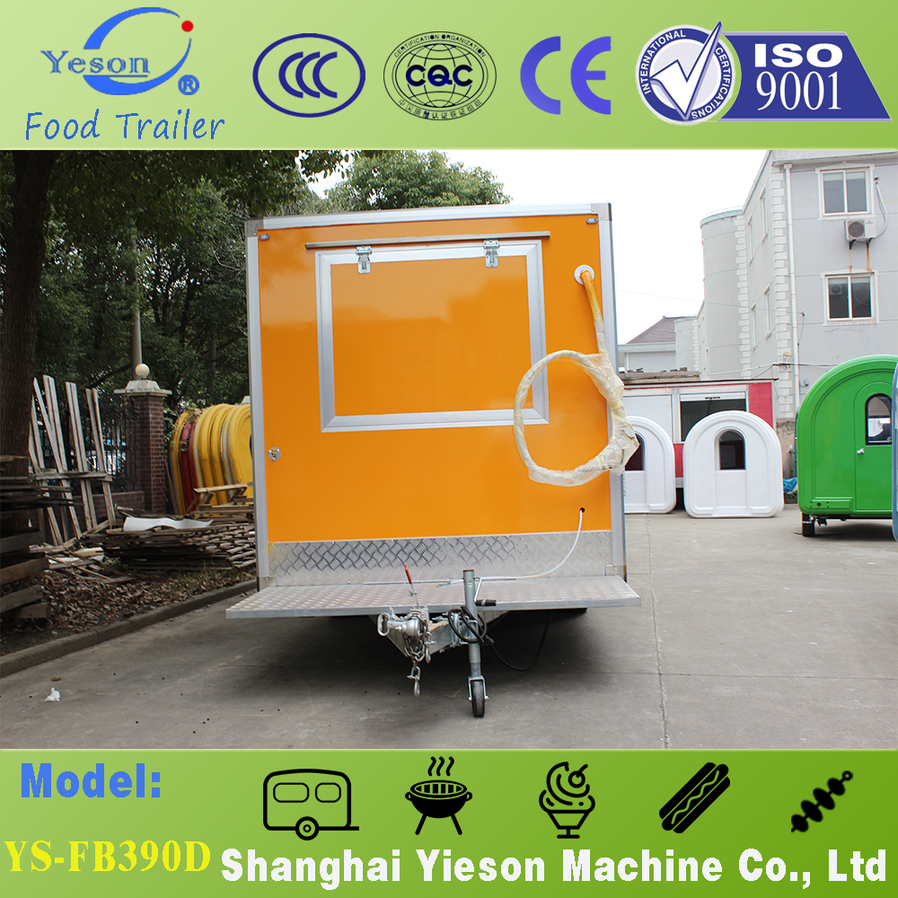 Yieson 3 selling windows Fiber Glass fast food truck mobile kitchen/mobile food truck for sale / food truck croissant equipment