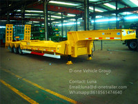 sales first in China of 40ft flatbed container semi trailer , Cheap used ATV flatbed trailer
