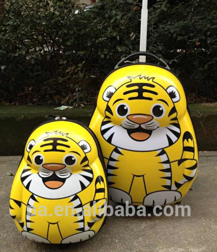 2016 cute animal kids trolley school bag toy China luggage factory