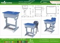 Kaiqi KQ60206A shool furniture plastic student single tables different colors and sizes available