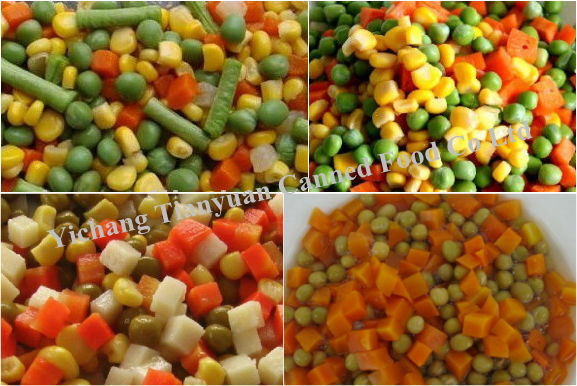 300g 400g 800g 3000g Canned mixed vegetables Price factory offer