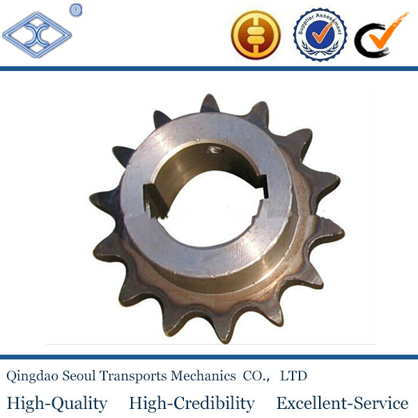 ISO DIN standard pitch12.7mm 40B simplex roller chain 14T high frequency hardening industrial driving sprocket