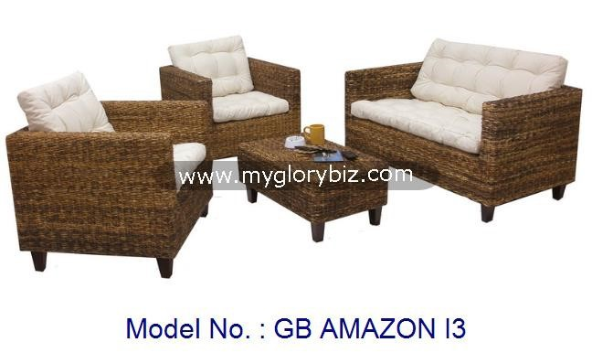 Modern Natural Rattan Sofa Set Furniture Indoor For Living Room, elegant living room furniture sets, rattan sofa in modern