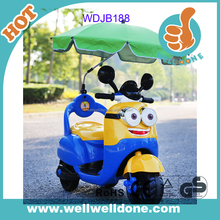 Popular design car fashion ride on car for kids four wheels children motocycle with remote control WDJB188