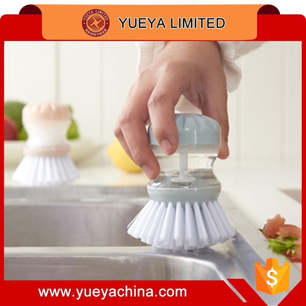 Soap Dispensing Wash Up Brush Washing Scrubbing Cleaning Dishes Liquid Cleaner