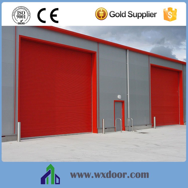China big steel /iron industrial roller door supplier