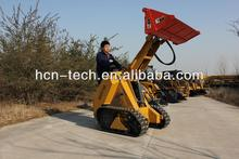 mini tracked skid steer loader with mini 4 in 1 bucket,Kohler engine,26hp,CE and EPA