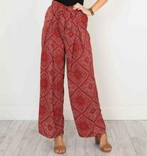 L3091A wholesale cheap palazzo women casual pants ladies printing loose palazzo pants
