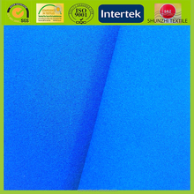 2-layers 100 polyester waterproof 4 way stretch pongee bonded fleece fabric for down coat