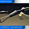 earphone jack adapter with spiral cable clip