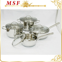 straight shape high quality cookware sets kitchen with decoration lines outside