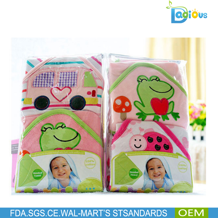 CHINA SUPPLY embroidered infant hooded baby towel