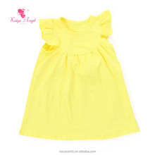 Children's Clothing yellow kids cotton frocks design