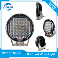 Hiwin 96w 8.7inch led work light bars for heavy engineering machine ip67 led work light with rohs approval HW-8896
