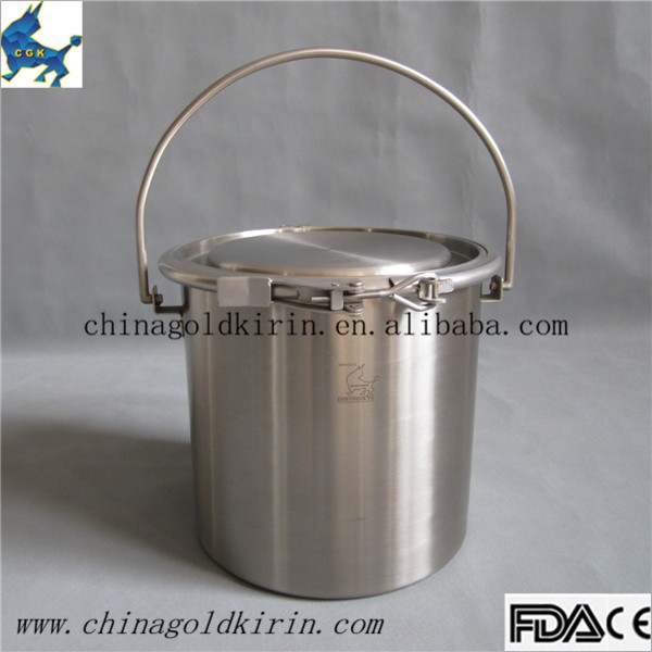 stainless steel food grade bucket