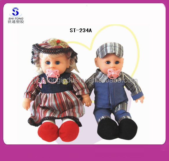 2016 Hot Sale High Quality Stuffed Cotton Four-Sound Vinyl Baby Dolls with Accessories