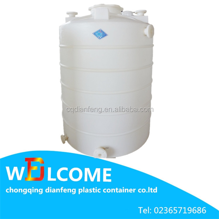 Popular hot 20kg plastic container water storage tank for Plastic hot water tank