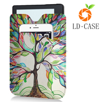 Colorful Painting Tree Flip Smart Cover For Kindle Paperwhite 1 2 3 Leather Case